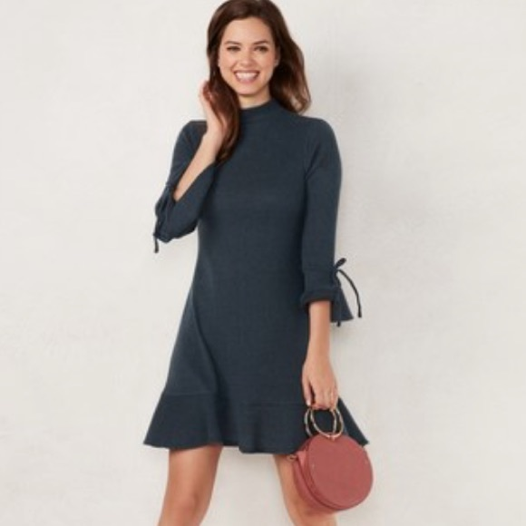 e90c13e7615 LC Lauren Conrad Dresses   Skirts - Lauren Conrad Mock Neck Flounce-Hem Sweater  Dress